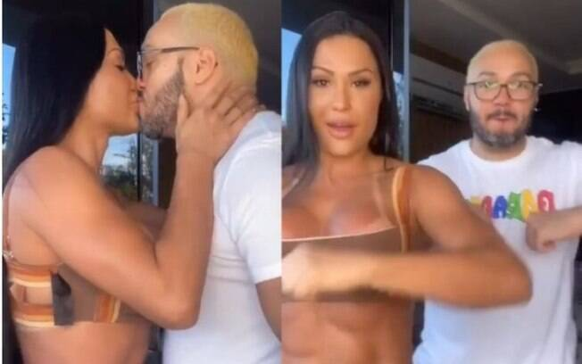 Gracyanne Barbosa dança com Belo