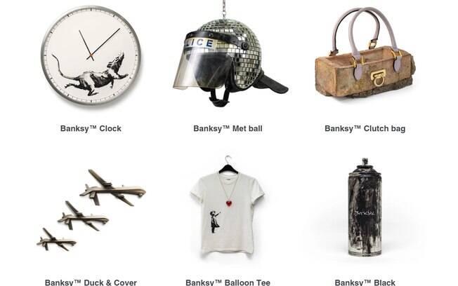 Produtos originais da loja de Banksy