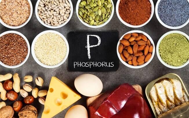 Sais minerais essenciais: o fósforo é o segundo mais abundante no organismo e serve inúmeras funções