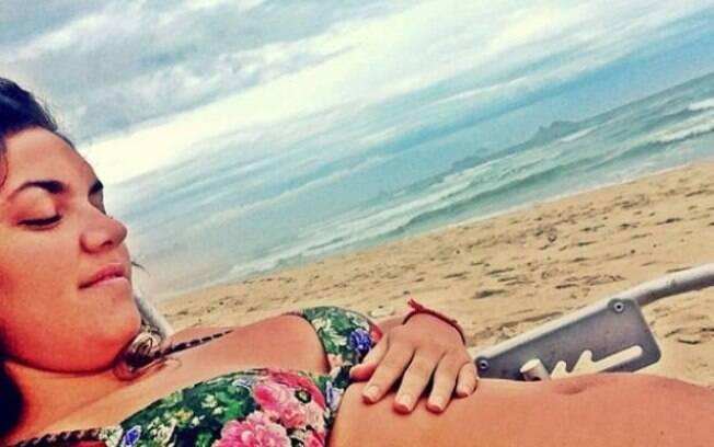 Carolina Bianchi diz estar esperando um filho de Caio Castro