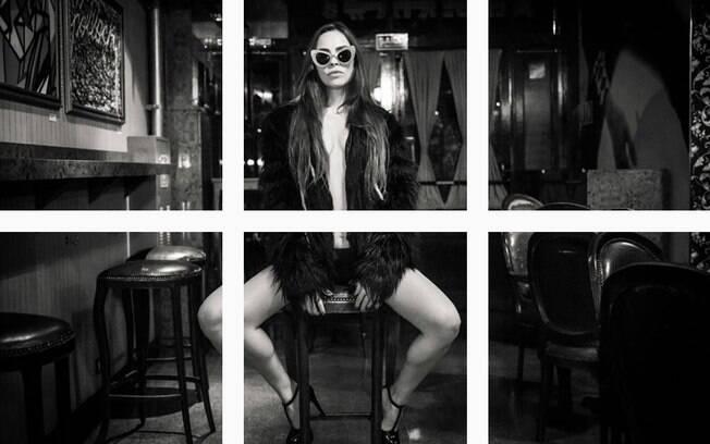 Gisele Frade sensualiza no Instagram. Mãe de três filhas, a atriz e DJ foi muito elogiada pelas imagens