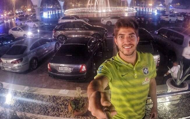 Lucas Silva em Doha com a seleção brasileira de base. Foto: Reprodução