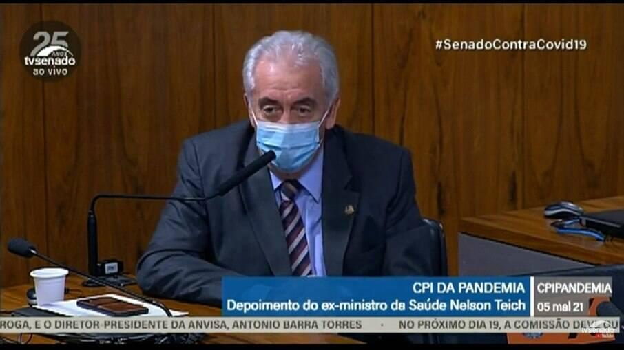 Senador Otto Alencar (PSD-BA) durante sessão da CPI da Covid