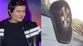 Cantor Giovani sofre acidente de carro, que capotou 3 vezes