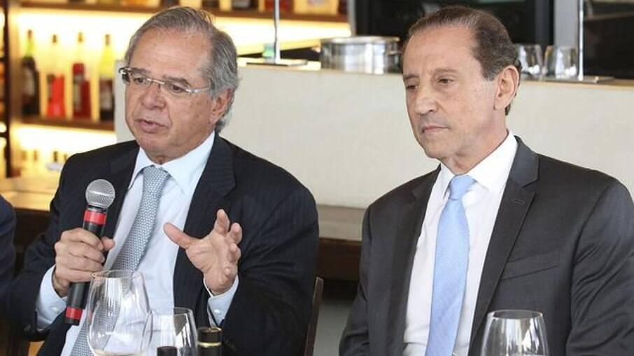 Paulo Guedes e Skaf, presidente da Fiesp