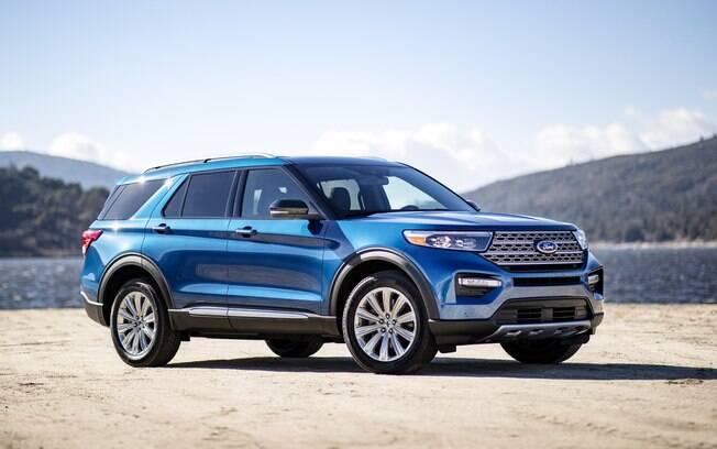 A nova geração do emblemático SUV Explorer terá um versão híbrida e faz parte dos novos modelos de carros elétricos da Ford para 2020