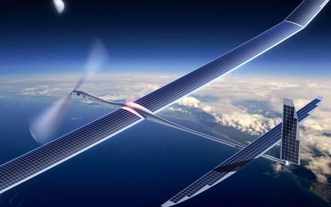 Esboço do Titan, drone que poderá ser usado em projeto de internet do Facebook