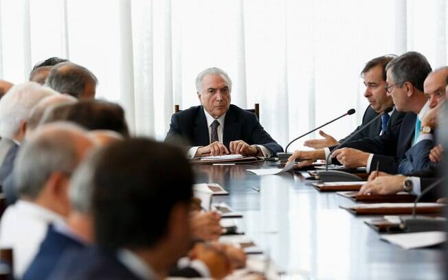 Presidente Michel Temer em reunião dos conselhos da República e de Defesa Nacional