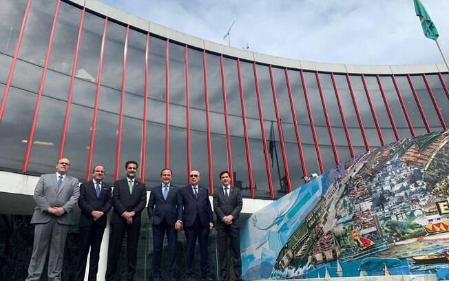 Doria está expondo projeto de desestatização proposto por seu governo para investidores