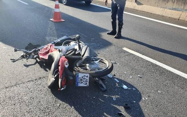 Acidente tirou a vida de motociclista na Anhanguera.