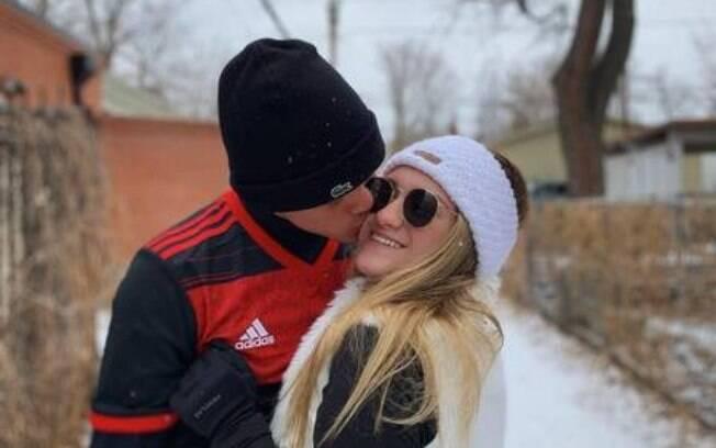 Marina Liberato com o namorado, Felipe Lessa