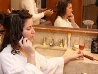 Adriana Picherle fez seu dia da noiva no hotel onde se casou