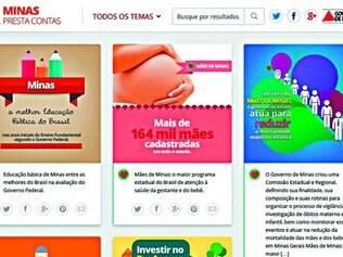 Divulgação. Governo não informou quanto sai dos cofres públicos para bancar portal que traz iniciativas da gestão tucana em Minas