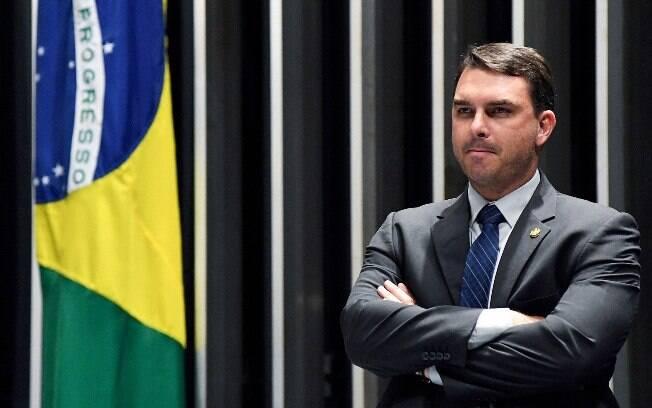 Filho mais velho do presidente Jair Bolsonaro, senador Flávio Bolsonaro