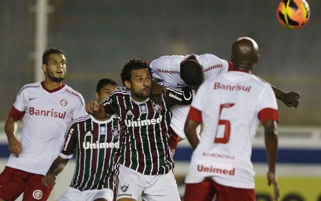 Fluminense e Internacional fizeram um jogo  movimentado no Rio de Janeiro