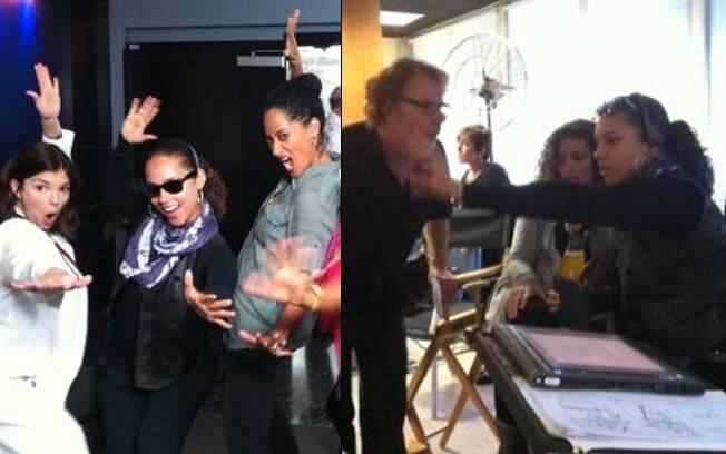 """Alicia Keys no set de filmagens do seu filme, intitulado """"Lili"""""""