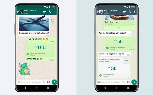 pagamentos pelo whatsapp