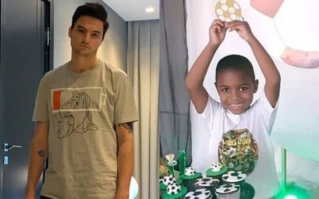 Felipe Neto e o menino Miguel
