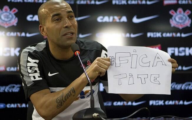 Emerson pede que Tite não aceite proposta da  Inter de Milão