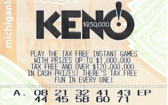 O americano de 57 anos, que não quis se identificar, acertou 10 dos 22 números sorteados na loteria