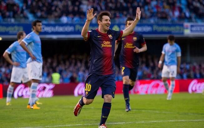 No empate por 2 a 2 com o Celta de Vigo, na  29ª rodada, Messi atingiu a marca de 19 jogos  seguidos marcando gols no campeonato