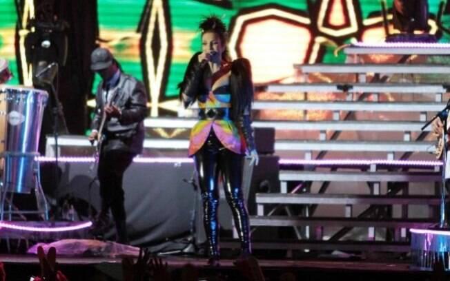 Ivete Sangalo durante show na Arena Anhembi nesse sábado (20)