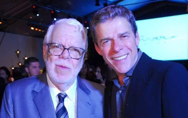 Manoel Carlos e José Mayer, um dos atores mais frequentes nas tramas do autor