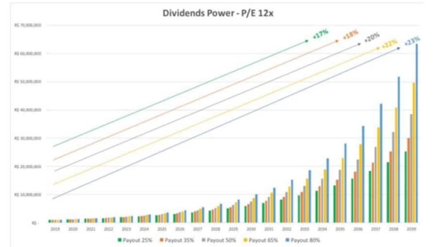 O poder dos dividendos 12x