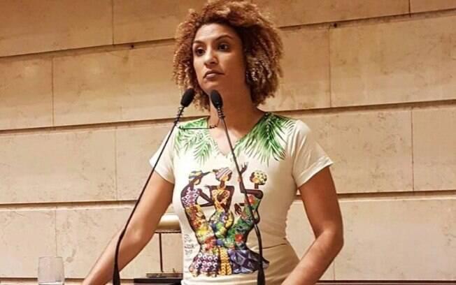 Vereadora Marielle Franco na Câmara Municipal do Rio de Janeiro