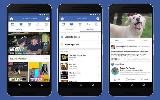 Em smartphones, Watch ocupará nova aba no aplicativo do Facebook; usuários poderão salvar episódios para assistir depois