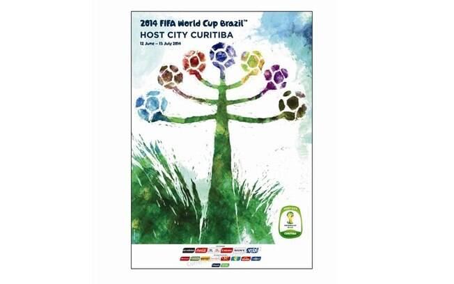 Curitiba-PR - Pôster oficial da Copa do Mundo  de 2014