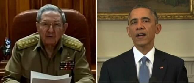 Barack Obama e Raúl Castro anunciam aproximação histórica entre Cuba e EUA