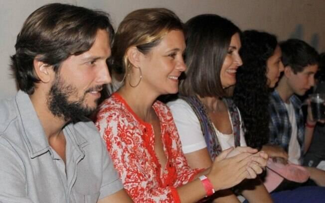 Fatima Bernardes com Adriana Esteves e Vladimir Brichta