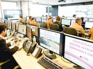 No (CICC), forças de segurança monitoram imagens geradas por 1.378 câmeras