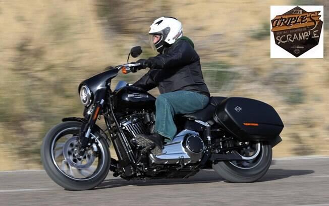 A Harley-Davidson Sport Glide: mais apropriada para viagens, devido às bolsas laterais
