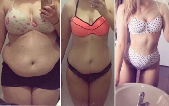 Para perder peso, a jovem australiana começou a praticar atividades físicas e cortou o açúcar e o carboidrato da dieta