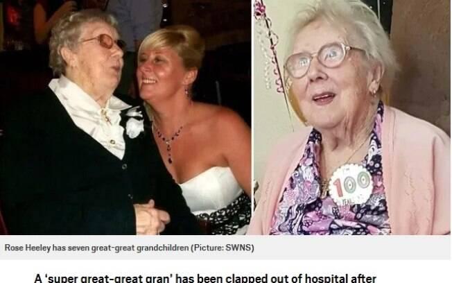 Rose Reeley possui uma família com cinco gerações depois dela