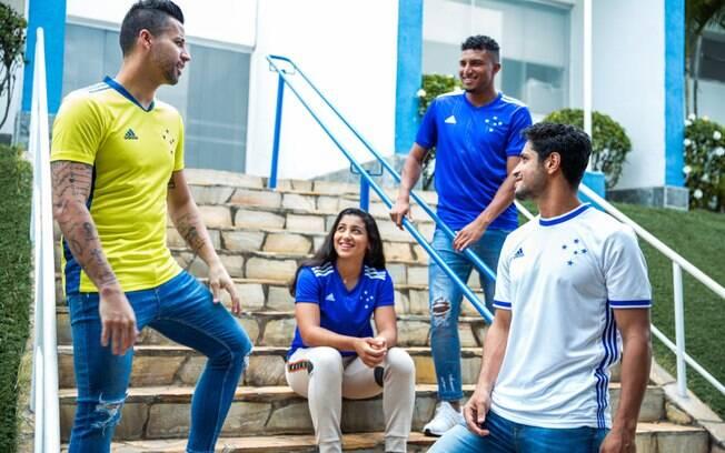 Novos uniformes do Cruzeiro