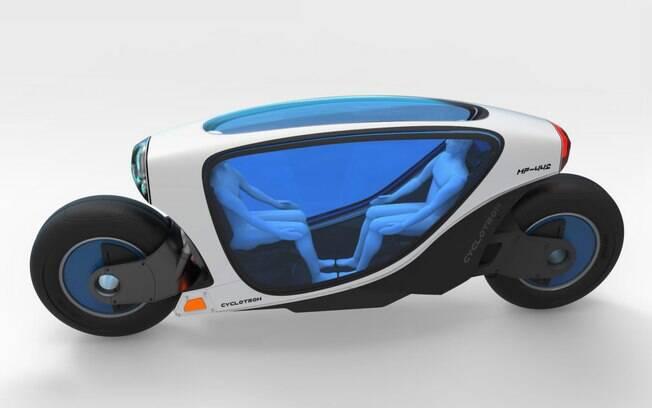 Cyclotron, motocicleta futurista para transporte do futuro idealizada pelo engenheiro Charles Bombardier