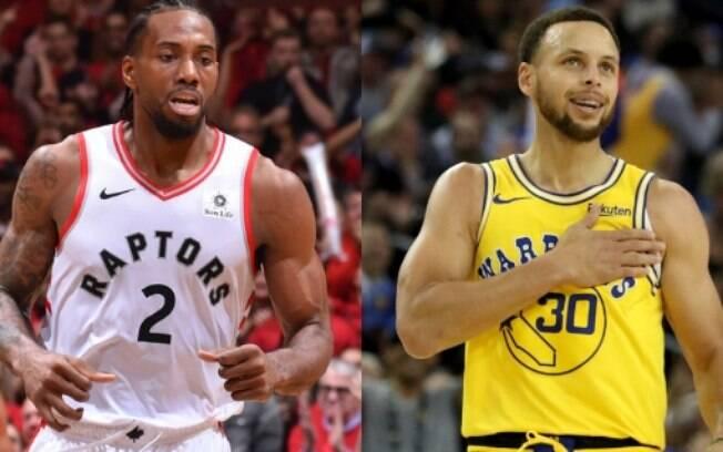 Stephen Curry e Kawhi Leonard prometem ser os destaques das finais da NBA