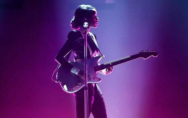Janelle Monáe durante performance no Grammy