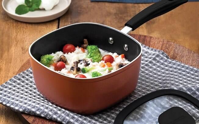 risoto de legumes e mussarela