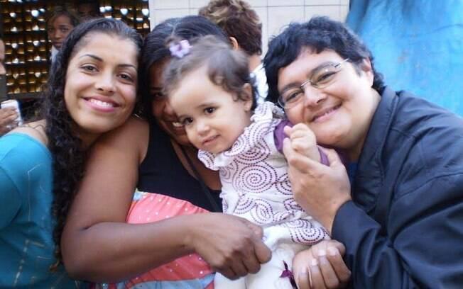 Família reunida: Ithátilla, Maria Gorete, Ana Clara e Cristina