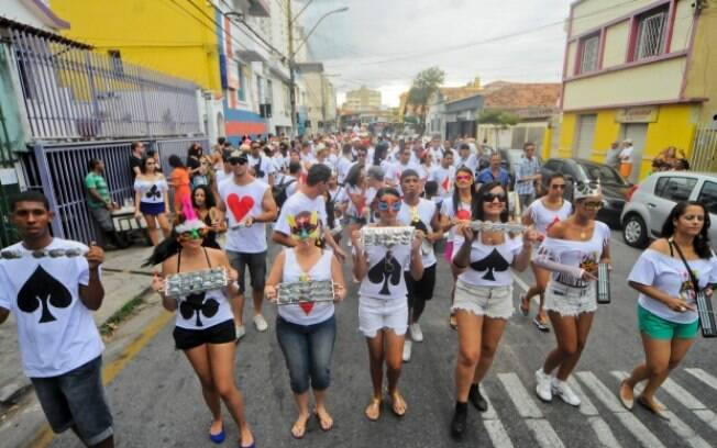 Bloco dos Valetes no bairro Santa Tereza, em Belo Horizonte