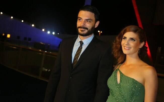 db1d1bb770 Kiko Pissolato e a mulher na gravação do especial de fim de ano da Globo