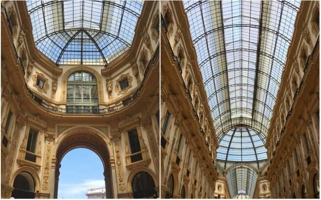 Na Galeria Vittorio Emanuele II, é difícil não ficar boquiaberto com os mosaicos, esculturas e lojas
