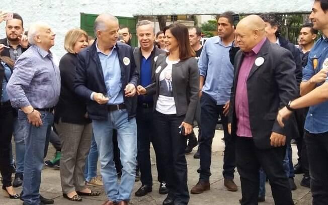 Márcio França vota em busca de sua reeleição, dado que assumiu o governo paulista após a saída de Geraldo Alckmin
