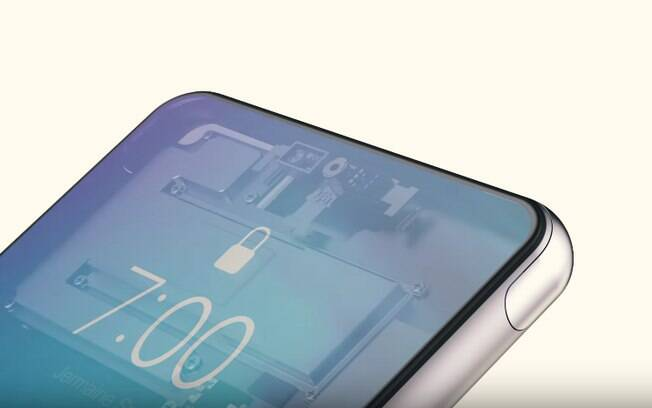 O display do iPhone Pro cobre toda a superfície da tela, e os sensores ficam embutidos embaixo dele