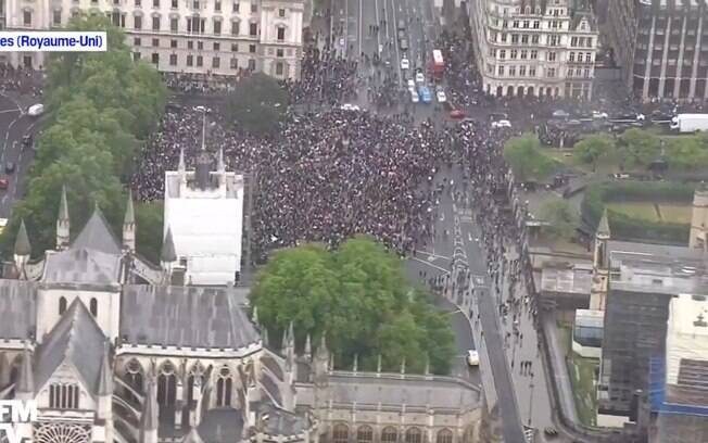 manifestação em londres