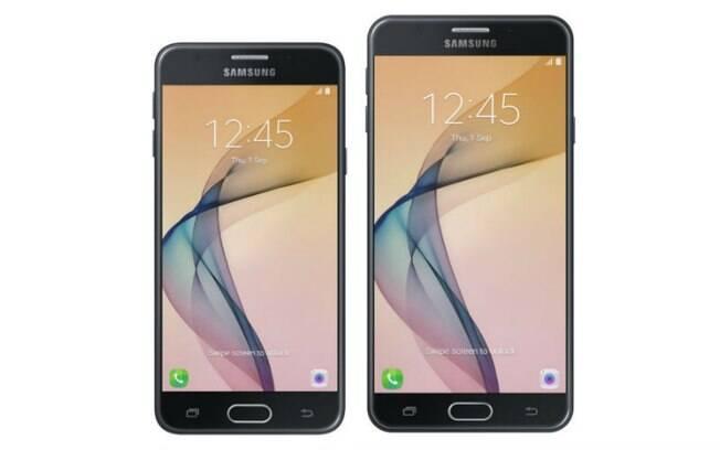 Galaxy J5 Prime conta com tela HD de 5 polegadas; já o Galaxy J7 Prim tem tela Full HD de 5,5 polegadas